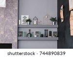 contemporary scandinavian... | Shutterstock . vector #744890839