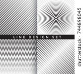 geometric line design set  ... | Shutterstock .eps vector #744898045