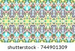 colorful mosaic pattern for... | Shutterstock . vector #744901309