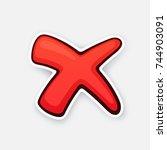 vector illustration. red cross... | Shutterstock .eps vector #744903091