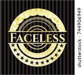 faceless gold badge | Shutterstock .eps vector #744906949