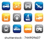 buttons with the image of...   Shutterstock .eps vector #744909607