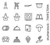 thin line icon set   dna modify ...   Shutterstock .eps vector #744917044