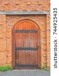 old door wall. | Shutterstock . vector #744925435