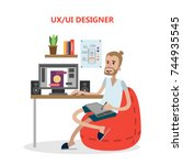 ux and ui male designer at...