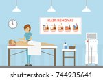 spa for men. massage and... | Shutterstock .eps vector #744935641