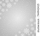 winter background with... | Shutterstock .eps vector #744942415