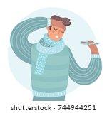 vector cartoon illustration of... | Shutterstock .eps vector #744944251