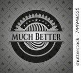much better realistic black... | Shutterstock .eps vector #744946525