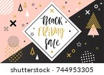 black friday sale poster.... | Shutterstock .eps vector #744953305