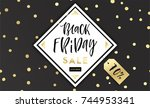 black friday sale poster.... | Shutterstock .eps vector #744953341