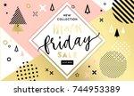 black friday sale poster.... | Shutterstock .eps vector #744953389