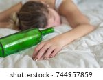 great concept of alcohol abuse. ...   Shutterstock . vector #744957859