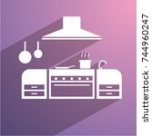 kitchen icon | Shutterstock .eps vector #744960247