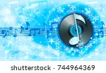 winter background with... | Shutterstock .eps vector #744964369