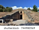 Small photo of Treasury of Atreus or The tomb of Agamemnon in the archaeological site of Mycenae near the village of Mykines, Peloponnese, Greece