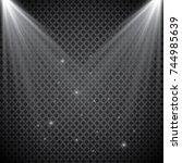 vector spotlight. light effect | Shutterstock .eps vector #744985639