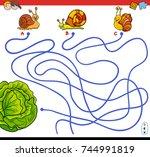 cartoon vector illustration of...   Shutterstock .eps vector #744991819