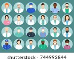 avatar doctor  hospital staff... | Shutterstock .eps vector #744993844