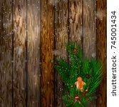 merry christmas. christmas... | Shutterstock .eps vector #745001434