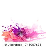 watercolor vector background... | Shutterstock .eps vector #745007635
