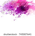 watercolor vector background... | Shutterstock .eps vector #745007641