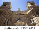 bottom view of saint dominic's...   Shutterstock . vector #745017811