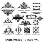 Stock vector vector set vintage labels 74501791