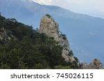 nature mountain landscape... | Shutterstock . vector #745026115