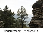 nature mountain forest nature... | Shutterstock . vector #745026415