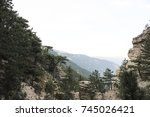 nature forest mountain... | Shutterstock . vector #745026421