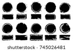 grunge post stamps collection ... | Shutterstock .eps vector #745026481