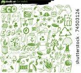 big vector set   eco | Shutterstock .eps vector #74503126