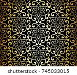 seamless linear pattern with... | Shutterstock .eps vector #745033015