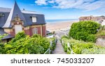 homes of deauville in normandy  ... | Shutterstock . vector #745033207