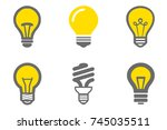 variety of bulb light. set of...   Shutterstock . vector #745035511