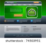 vector web site design template....