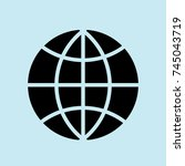 www icon  web icon  world  ... | Shutterstock .eps vector #745043719