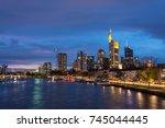 the skyline of frankfurt with... | Shutterstock . vector #745044445