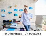 young people  entrepreneur and... | Shutterstock . vector #745046065