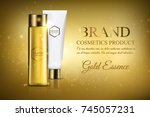 a beautiful cosmetic mock up... | Shutterstock .eps vector #745057231