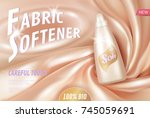 fabric softener 3d realistic... | Shutterstock .eps vector #745059691