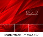 fractal abstract background.... | Shutterstock .eps vector #745066417