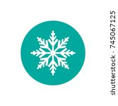 winter icon with flat white... | Shutterstock .eps vector #745067125