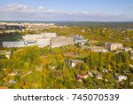 Aerial View Of City Park And...