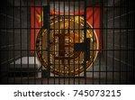 bitcoin bans in china btc... | Shutterstock . vector #745073215