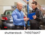 auto service  repair ... | Shutterstock . vector #745076647