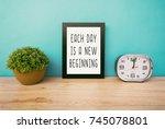 motivational and inspirational... | Shutterstock . vector #745078801