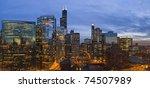 chicago business center... | Shutterstock . vector #74507989