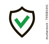 tick mark approved icon | Shutterstock .eps vector #745081441